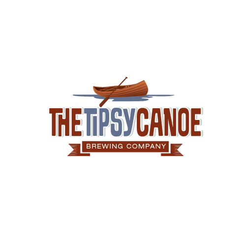 Canoe logo with the title 'Brewery company concept called tipsy canoe'