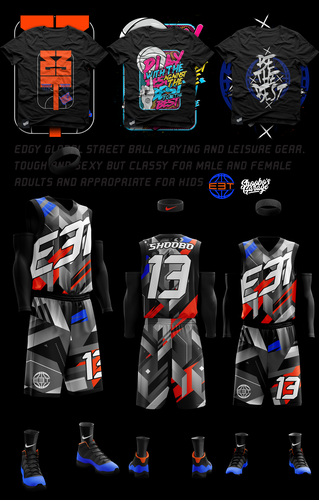 Crazy design with the title 'StreetBall Gear'