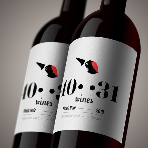 Pinot noir label with the title 'Wine logo&label design'
