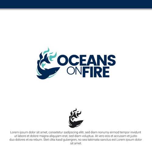 Four elements logo with the title 'Oceans on Fire'