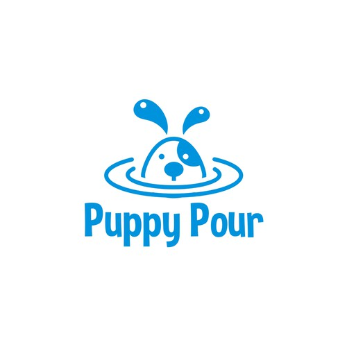 One-color design with the title 'Simple & Fun Logo for Dog Water Bottle '