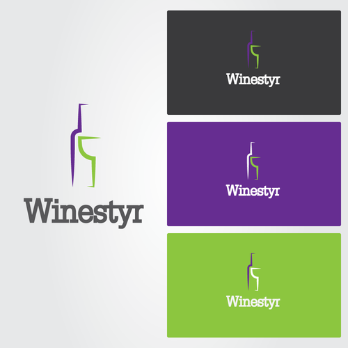 Wine glass logo with the title 'WANTED: NEW LOGO FOR STARTUP'