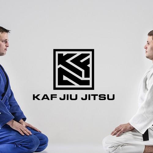 Martial arts design with the title 'Bold Jiu Jitsu Logo'