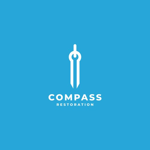 Wrench logo with the title 'compass restoration'