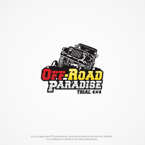 4x4 logo with the title 'Logo para juego de conducción 4x4 off-road'