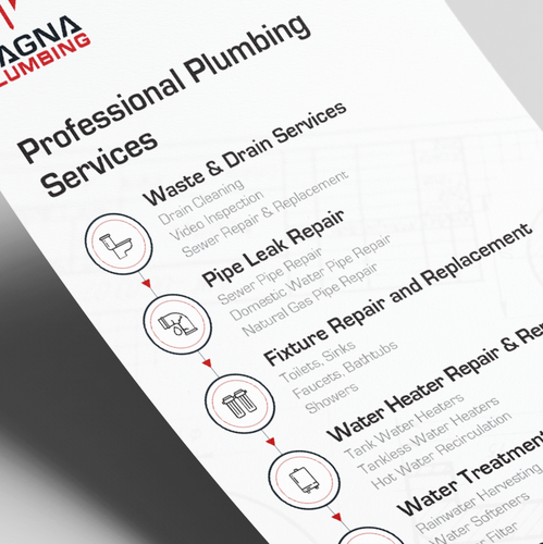 Clean design with the title 'Magna Plumbing - Flyer Design'
