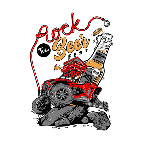 Political t-shirt with the title 'Rock-Tow-Beer-Fest'