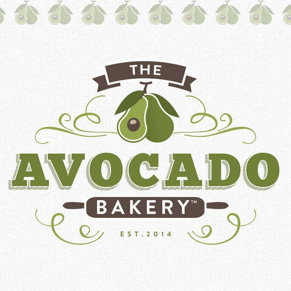 Avocado logo with the title 'Logo for a Baked Goods Brand'