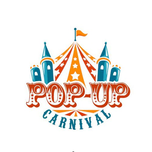 Circus logo with the title 'Logo - PopUp Carnival'