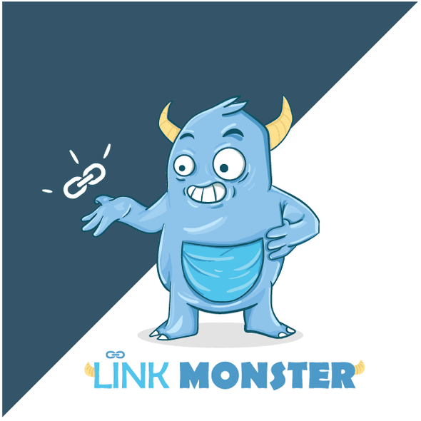 Brush design with the title 'Link Monster Logo'