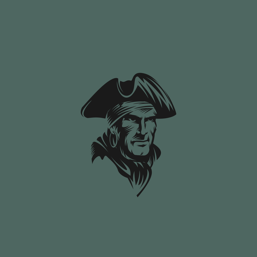 Pirate design with the title 'icon character for Stevebson School Athletics logo'