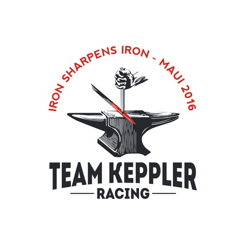 Iron design with the title 'team keppler logo'