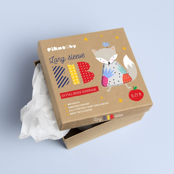 Craft packaging with the title 'Baby product packaging design'