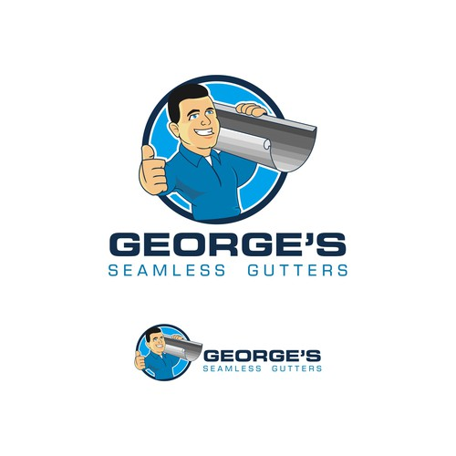 Thumbs up design with the title 'George Character'