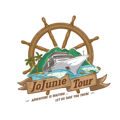Caribbean design with the title 'Logo entry for JoJunie Tour  '