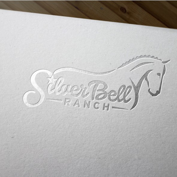 Dressage design with the title 'Classy logo for dressage horse facility'