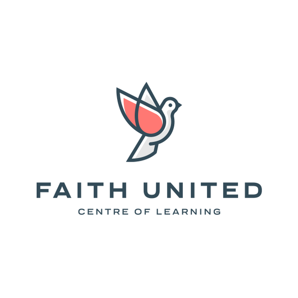Center design with the title 'Faith United'