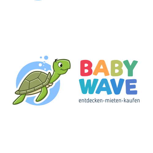 Turtle logo with the title 'Logo for babywave.ch'