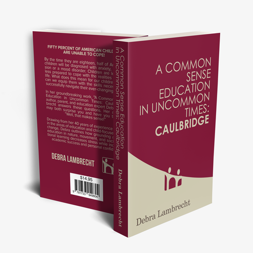 College book cover with the title 'Modern & Simple Book Cover Design'