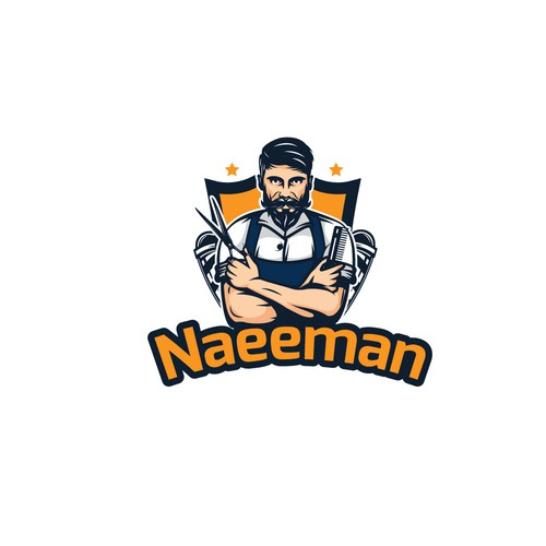 "Scissors design with the title 'Logo design for  ""Naeeman""'"