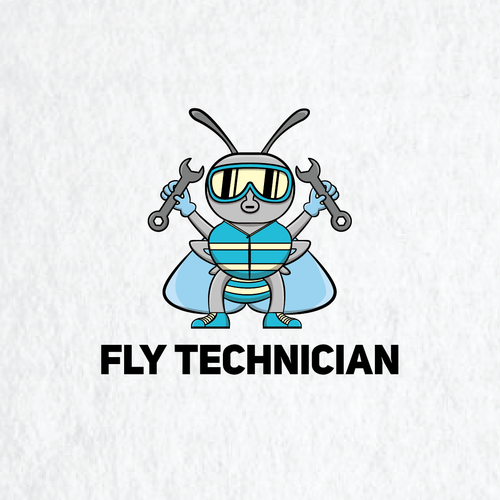 Wrench design with the title 'Fly Technician'