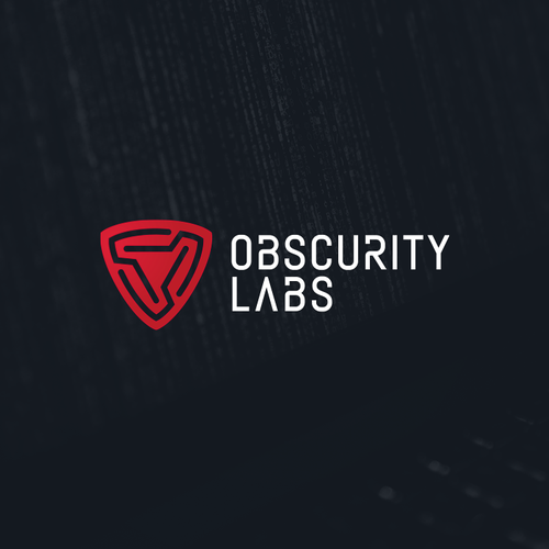 Technology logo with the title 'Powerful logo for cybersecurity startup'