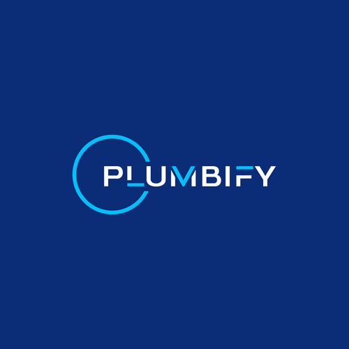 Masculine logo with the title 'Plumbify'
