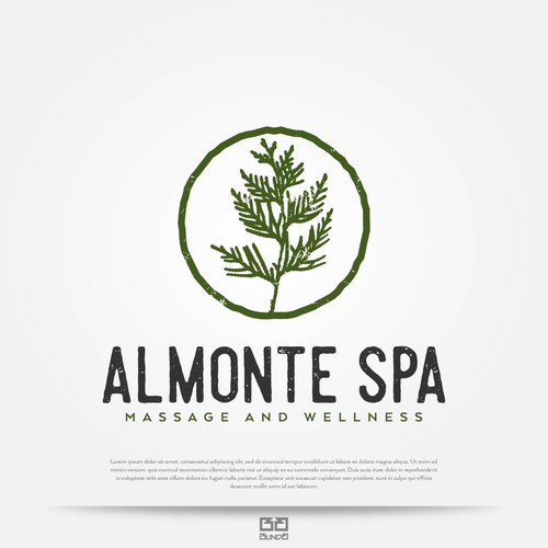 Wellness design with the title 'Logo for spa center'