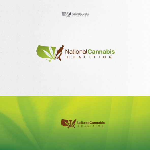 National logo with the title 'Marijuana: Be the winning logo designer for the org. that legalizes cannabis!'