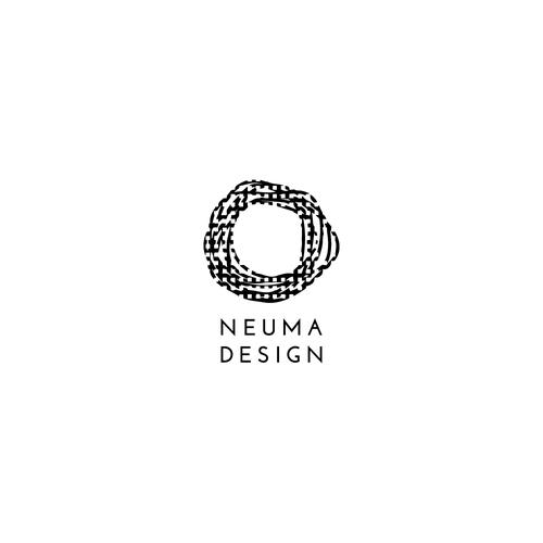 Scandinavian logo with the title 'Neuma Design, Home Furnishing Studio'