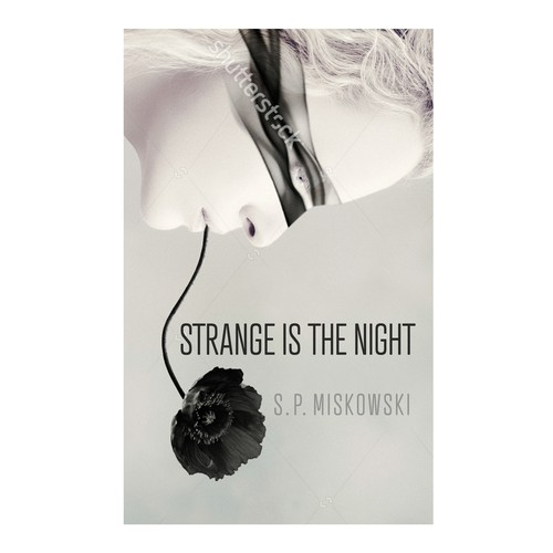Aesthetic book cover with the title 'Cover for Strange is the Night'
