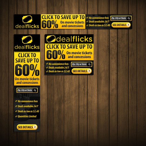 Call to action design with the title 'Dealflicks Affiliate Banners '
