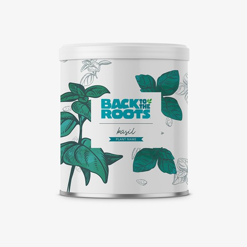 Can label with the title 'Plant in Can Label Design'