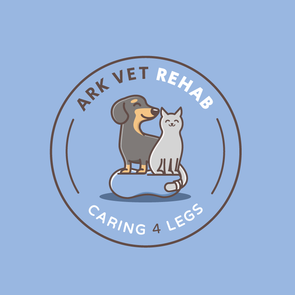 Cute animal design with the title 'Cute logo for a pet rehab facility '
