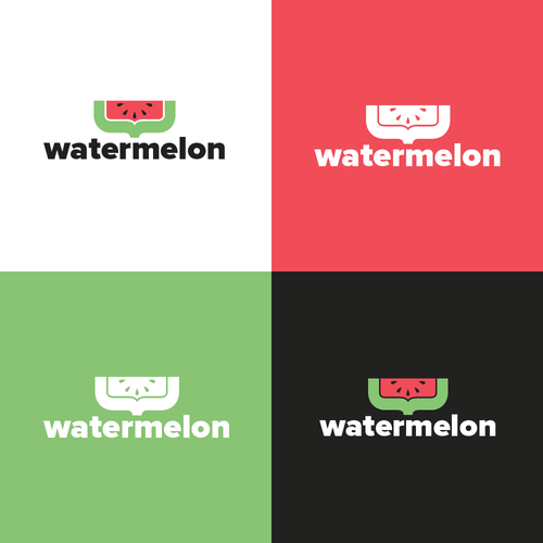 Watermelon logo with the title 'Watermelon IT logo'