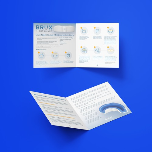 Startup design with the title 'BRUX - NIGHT GUARD'