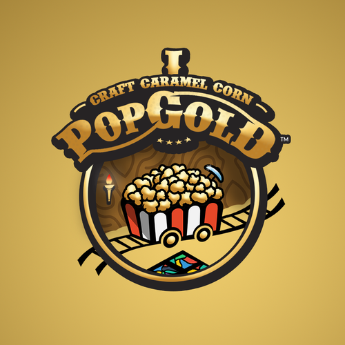 Caramel design with the title 'PopGold'
