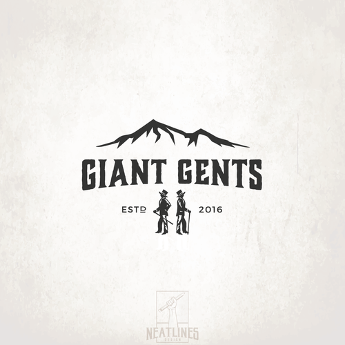 Black logo with the title 'Giant Gents'