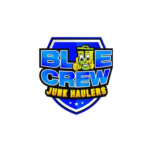 Police design with the title 'BLUE CREW Junk Haulers'