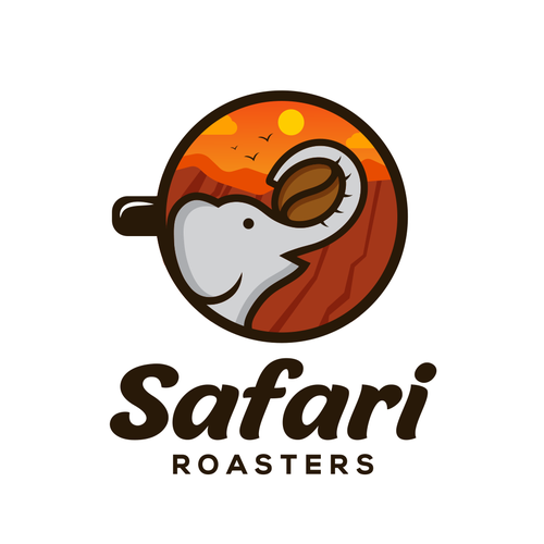 Safari logo with the title 'Safari Roasters'