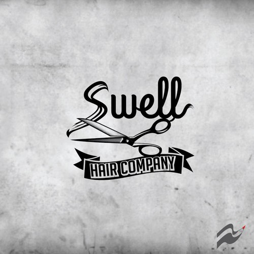 Cut design with the title 'Sweel hair company'