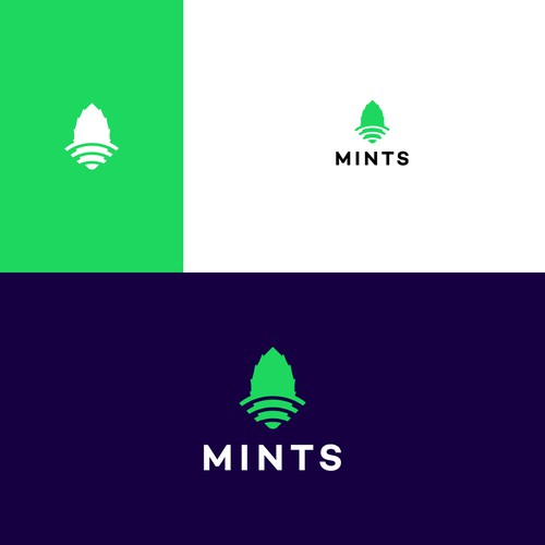 Wireless design with the title 'Mints Logo / wireless'