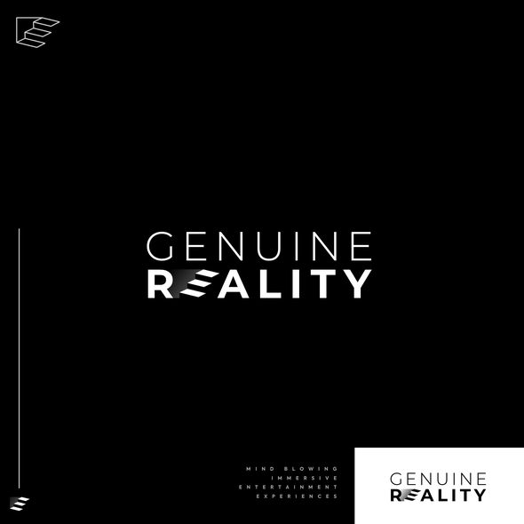 Optical illusion logo with the title 'GENUINE REALITY'