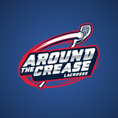 Lacrosse design with the title 'Around the Crease Lacrosse'
