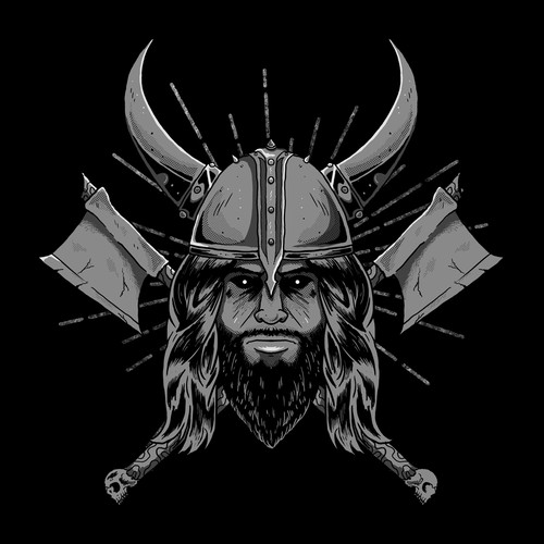 Viking t-shirt with the title 'Vikings'