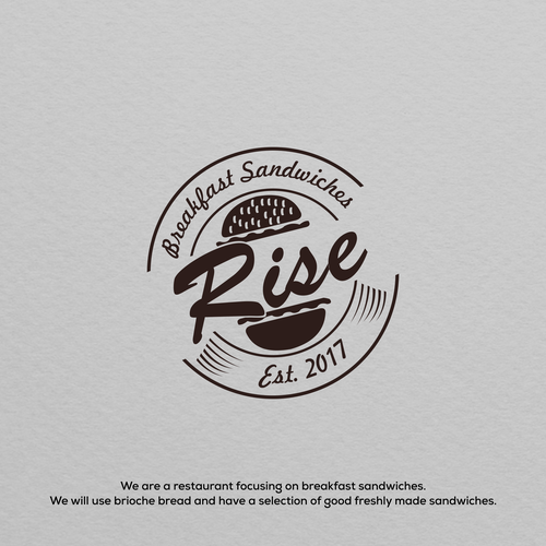 Sandwich logo with the title 'Rise Logo'