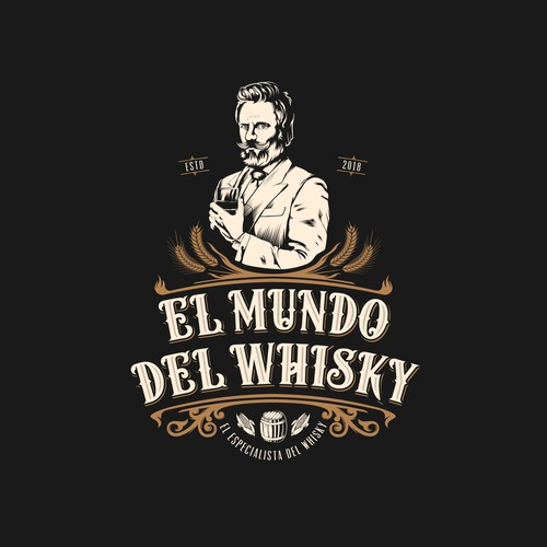 Label logo with the title 'El Mundo Del Whisky'