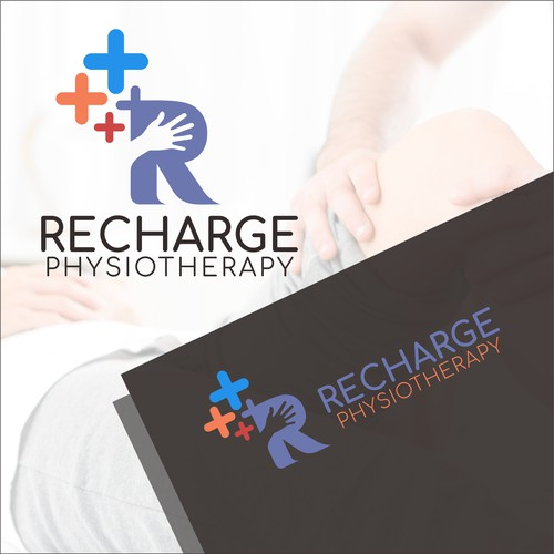 Physiotherapy logo with the title 'Recharge'