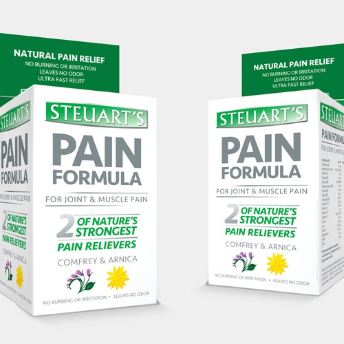 Pain design with the title 'Natural Pain Relief '