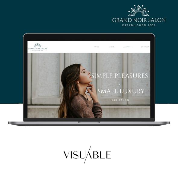 Beauty salon design with the title 'Salon'
